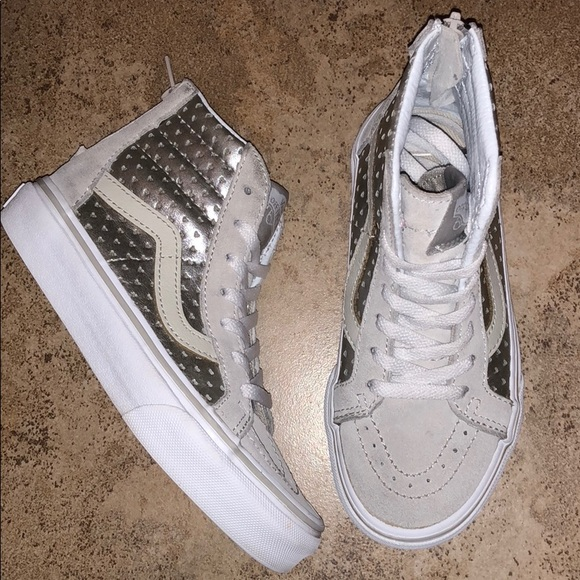 Silver Heart Classic Sk8 Hi Sneakers